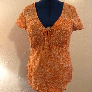 Nomadic Traders V-neck blouse, size large